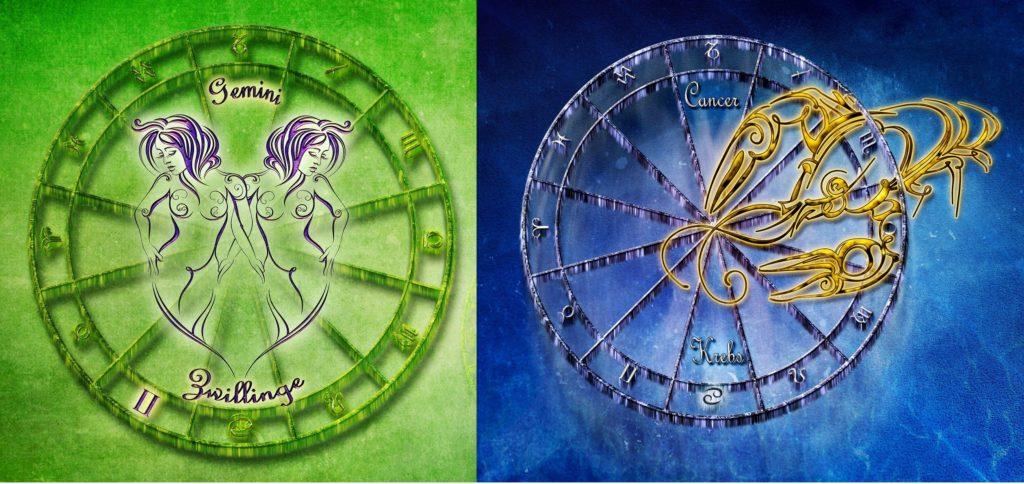 Гороскоп совместимости пары для знаков зодиака Близнецы и Рак