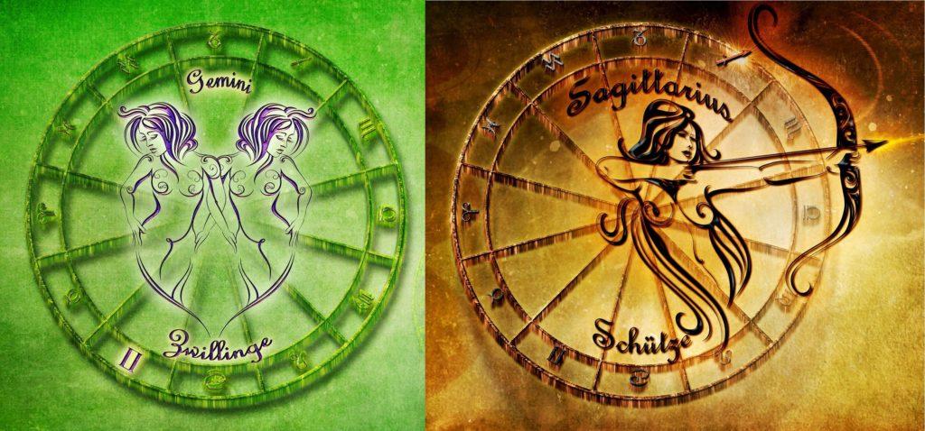 Совместимость знаков зодиака в любви близнецы и стрелец