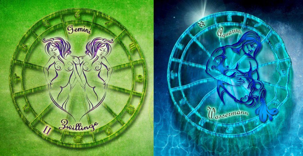 Водолей и Близнецы совместимость знаков зодиака в любовных отношениях