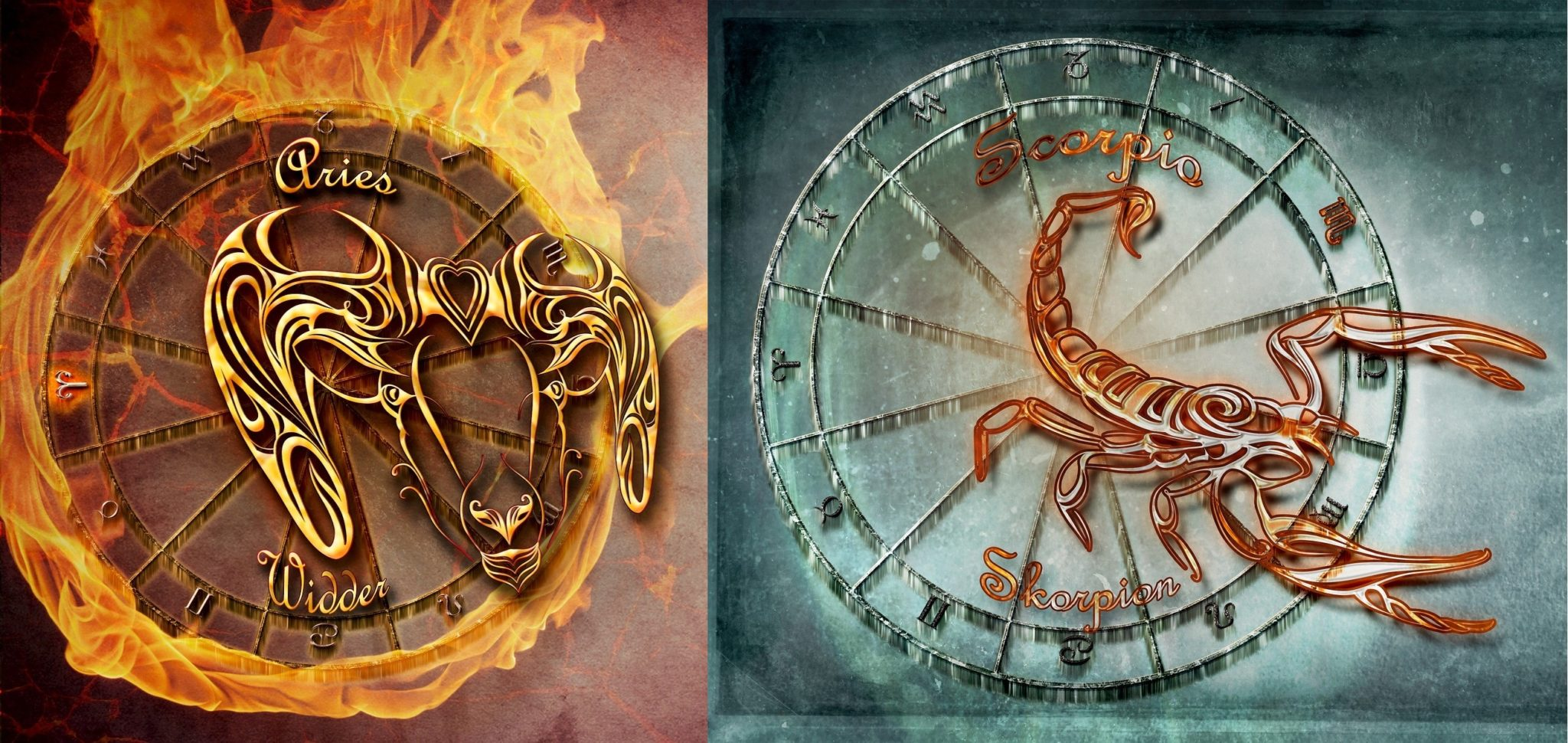 Картинки овна и скорпиона в любви